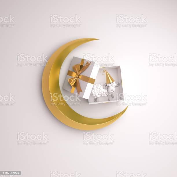 Top view of gift box sheep gold crescent moon on studio lighting picture id1157969566?b=1&k=6&m=1157969566&s=612x612&h=hbdqvcqwozq6v8slv8sctuw2r6xu1v755a6t fqtcsg=