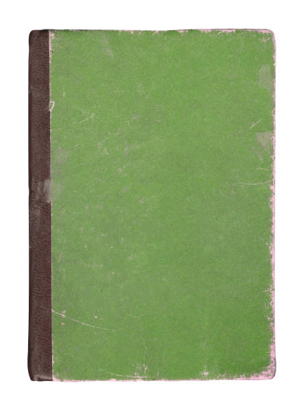 Top view of green notebook. Isolated green book stock photo