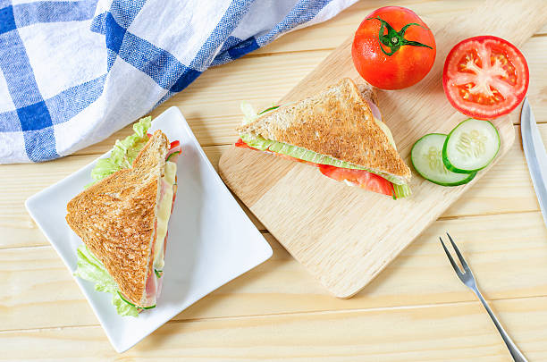 Top view of Healthy Sandwich stock photo