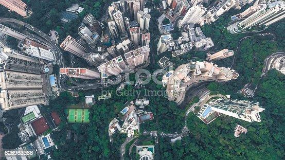 istock Top View of Hong Kong 628963966