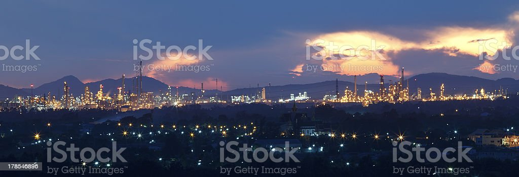 top view of industrial estate in rayong thailand stock photo