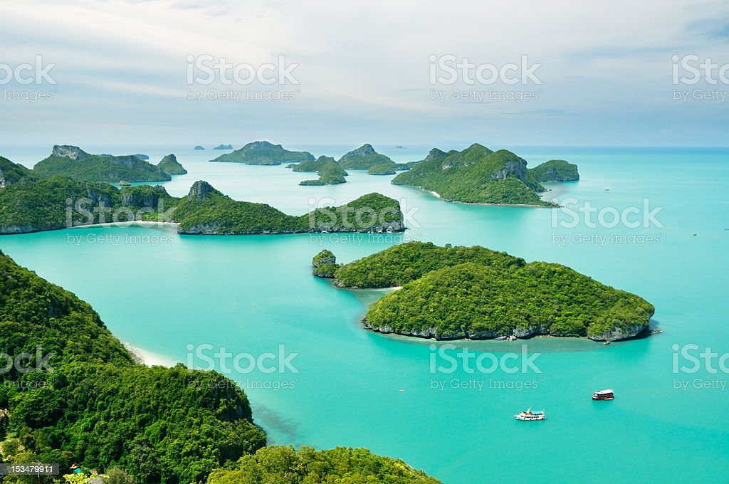 Top view of island group in Thailand royalty-free stock photo
