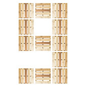 Top View Of Isolated Number Digit 9 Nine In Wood Pallet Pattern On The