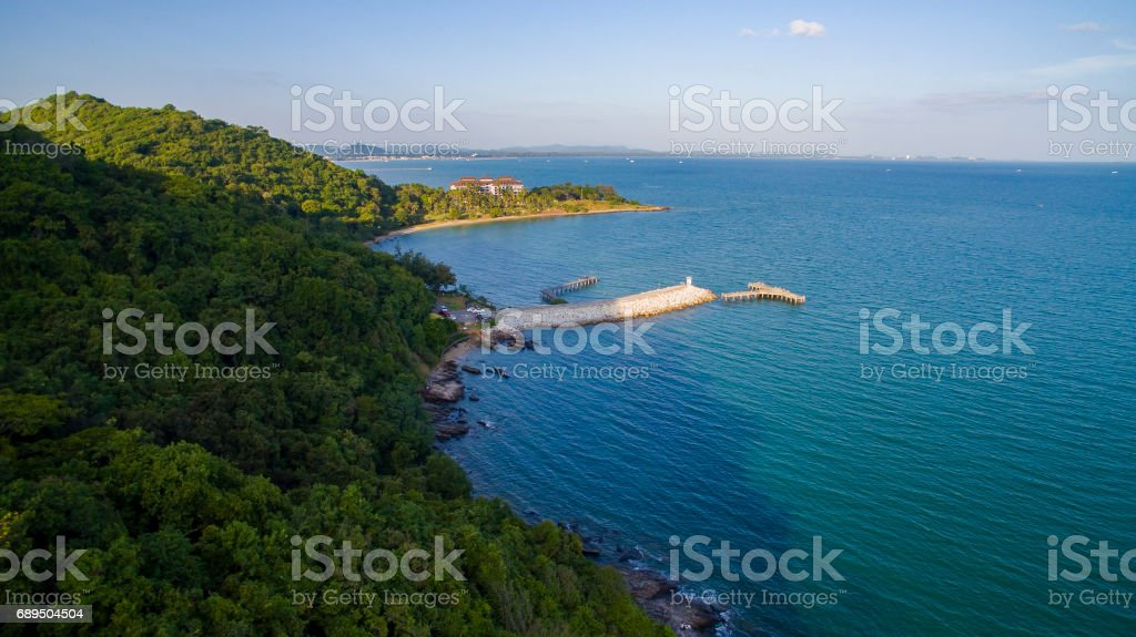 top view of khao laem ya national park rayong eastern thailand most popular traveling destination stock photo