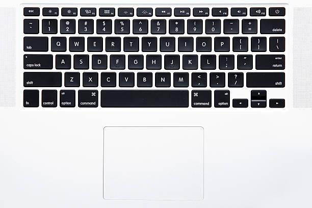 Vista superior do teclado de um Laptop - foto de acervo