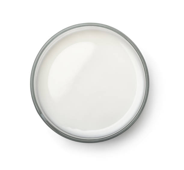 ovanifrån av mjölk glas - glas porslin bildbanksfoton och bilder