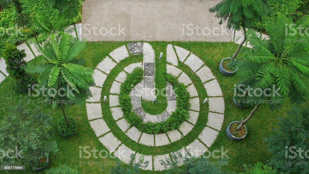 Top View Of Modern Garden Design Royalty Free Stock Photo