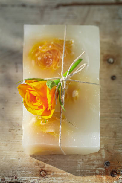 Top view of natural rose soap made of yellow flowers picture id1207914850?b=1&k=6&m=1207914850&s=612x612&w=0&h=d9zz2sr j48k3 m3d3sijh3oulwwnz0mzts6kogeddo=