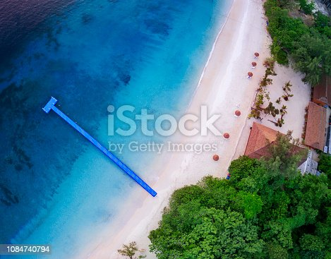 top view of nyang oo phee island andaman sea border myanmar and southern of thailand one of most popular traveling destination