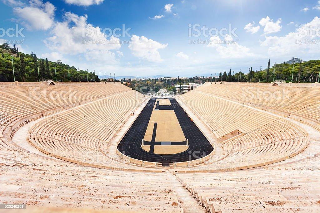 Vista superior del estadio Panathenaic en Atenas - foto de stock