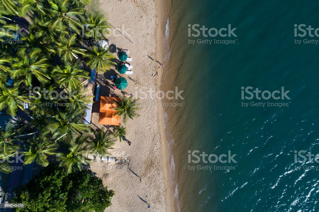 Top View of Paradise Beach royalty-free stock photo