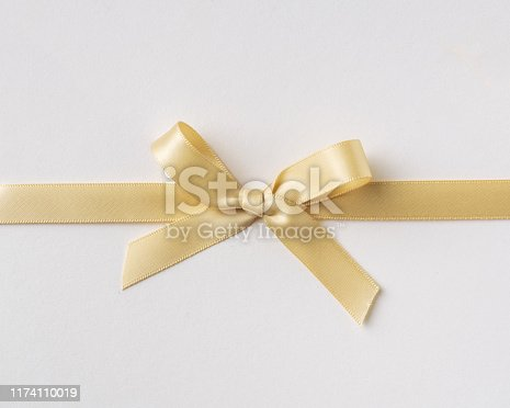 istock top view of pink bow isolated on white background 1174110019