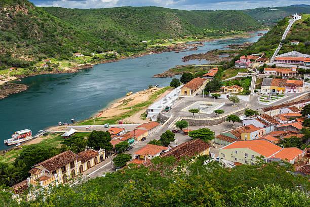 Aufsicht von Piranhas City-Alagoas-Brasilien – Foto