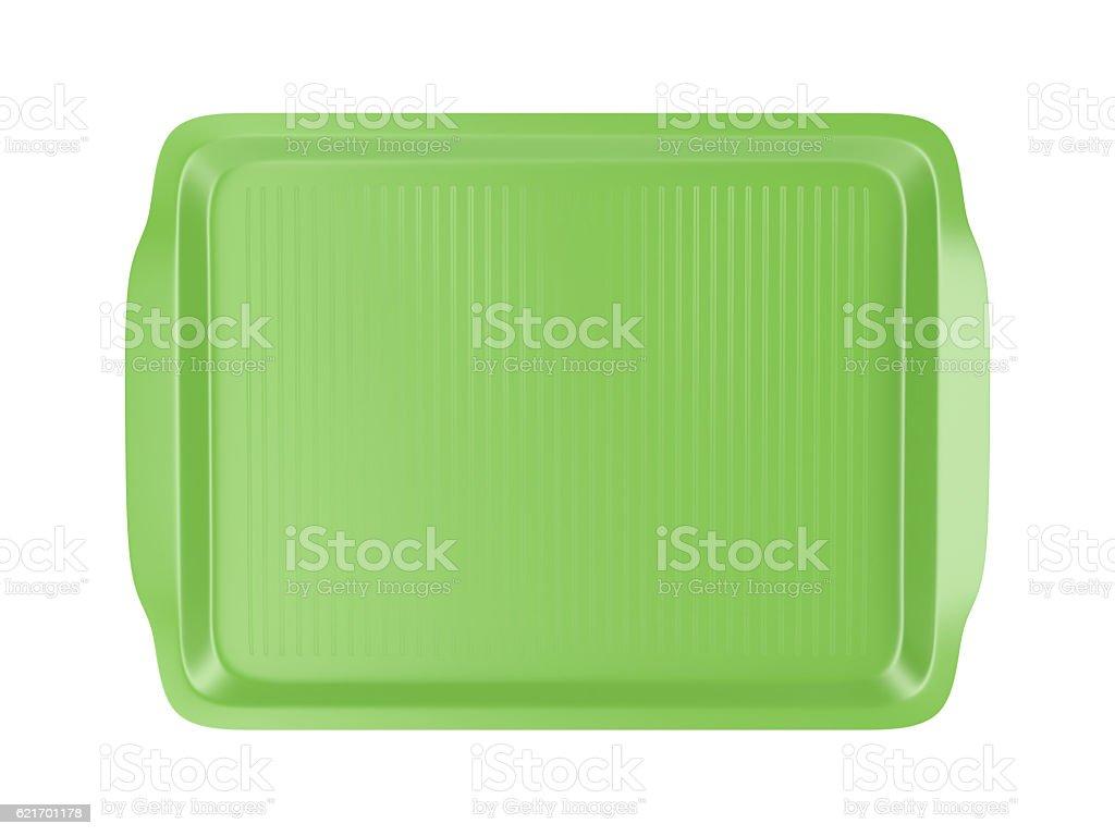 Top view of plastic tray - foto de acervo