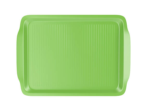 Top view of plastic tray - foto de stock