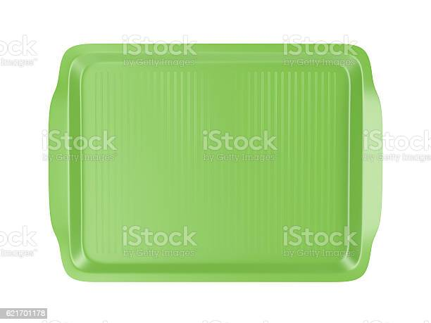Top View Of Plastic Tray Stockfoto en meer beelden van Bord - Serviesgoed