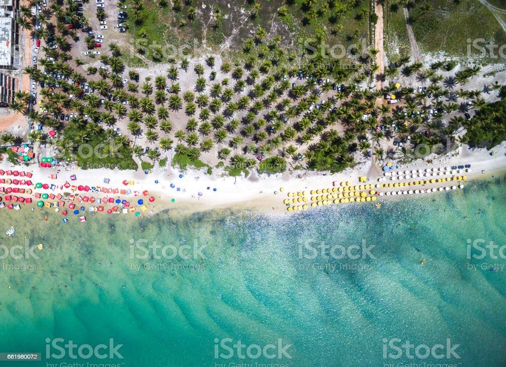 Top View of Porto de Galinhas Beach, Pernambuco, Brazil royalty-free stock photo