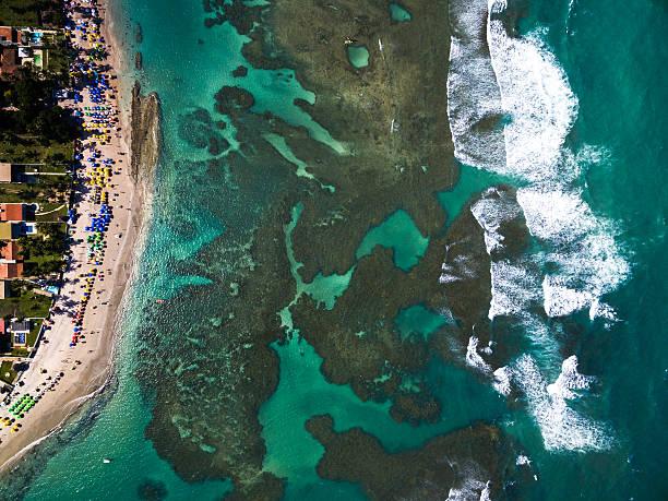 Vista de cima de Porto de Galinhas, Pernambuco, Brasil - foto de acervo