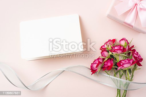825251738 istock photo top view of red rose for mother & valentine day 1139807631