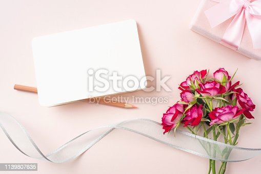 825251738 istock photo top view of red rose for mother & valentine day 1139807635