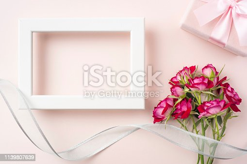 825251738 istock photo top view of red rose for mother & valentine day 1139807639