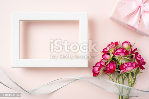 825251738 istock photo top view of red rose for mother & valentine day 1139808140