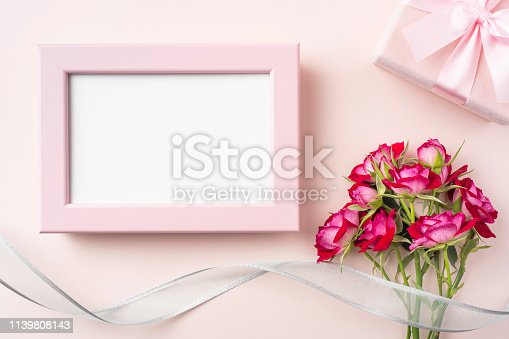 825251738 istock photo top view of red rose for mother & valentine day 1139808143