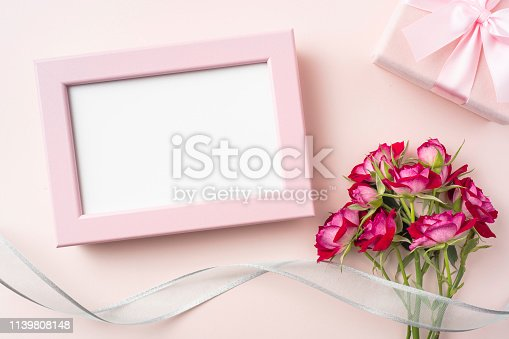 825251738istockphoto top view of red rose for mother & valentine day 1139808148