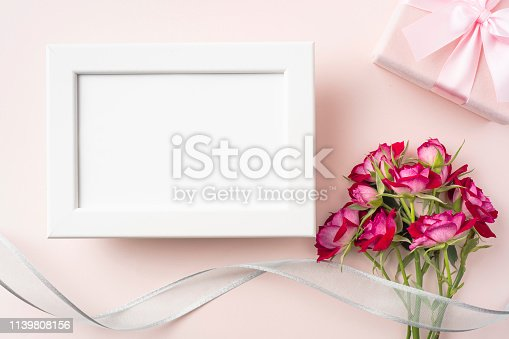 825251738 istock photo top view of red rose for mother & valentine day 1139808156