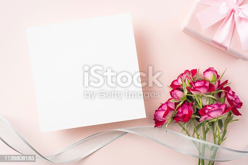825251738 istock photo top view of red rose for mother & valentine day 1139808183