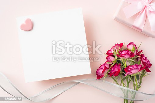 825251738 istock photo top view of red rose for mother & valentine day 1139808186