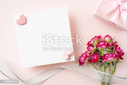 825251738 istock photo top view of red rose for mother & valentine day 1139808190
