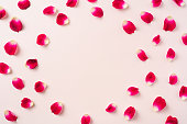 istock top view of red rose petal pattern for mockup 1139632996