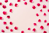 istock top view of red rose petal pattern for mockup 1139633070