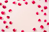 istock top view of red rose petal with white square card 1139632939