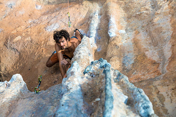 Pictured: The incredible Stone Nudes who rock climb