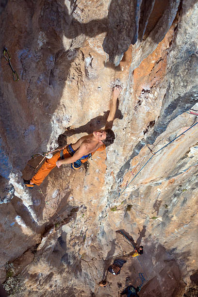 Royalty Free Naked Rock Climbing Pictures, Images and