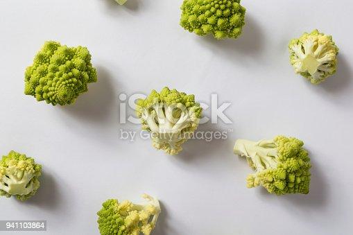 istock Top view of romanesco cauliflower 941103864