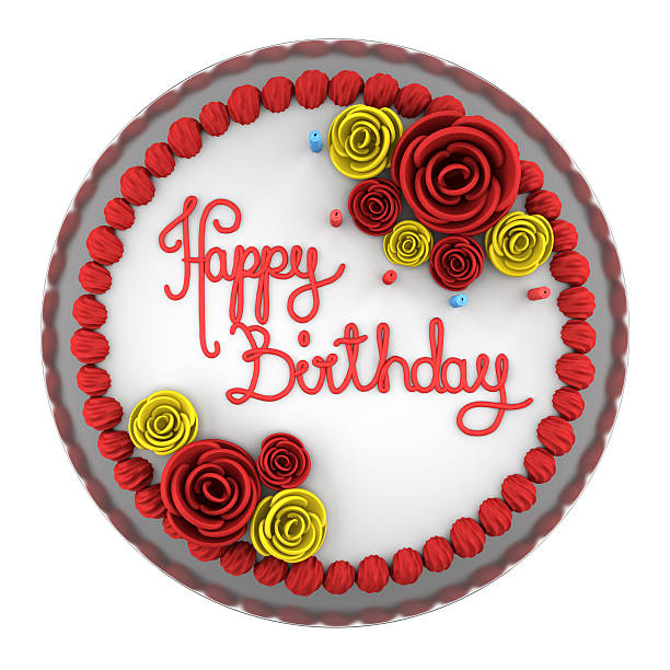 Royalty Free Birthday Cake Top View Pictures, Images And