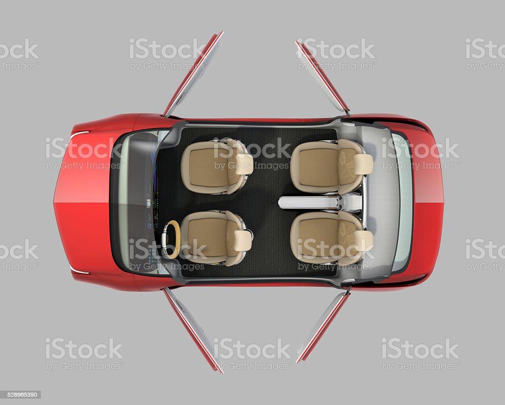 Aufsicht des Menschen fahren Auto Cutaway – Foto
