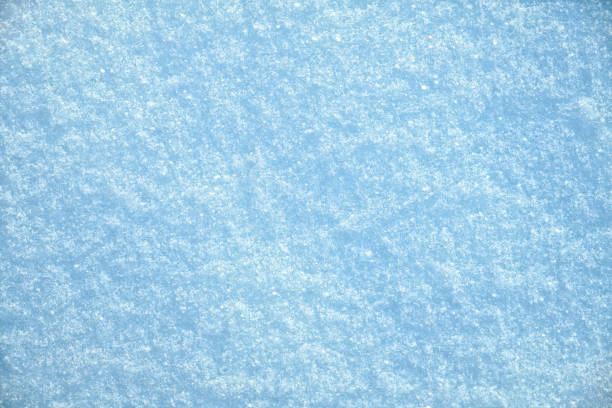 Top view of snow texture. Winter background stock photo