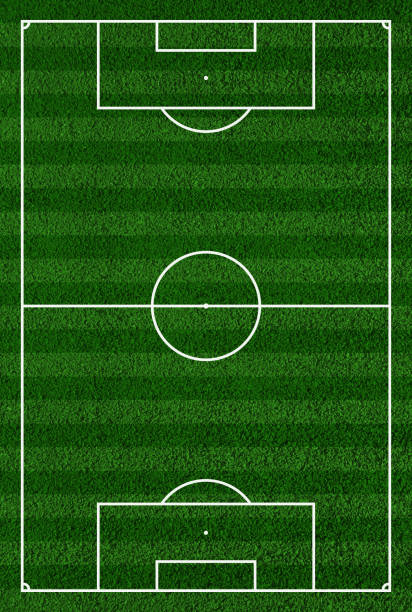 top view of soccer field or football court - soccer field stock photos and pictures