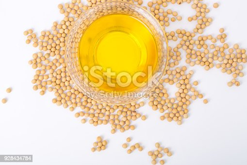 istock Top view of soybean and soybean oil 928434784