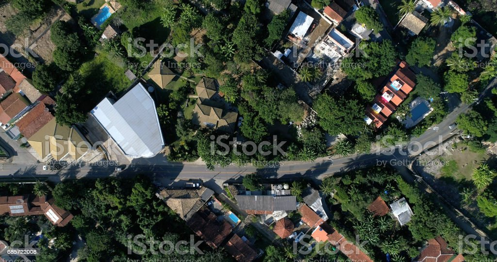 Top View of Street stock photo