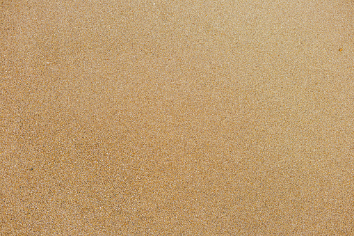 istock Top view of surface of clean golden sand at sea beach 1089147806