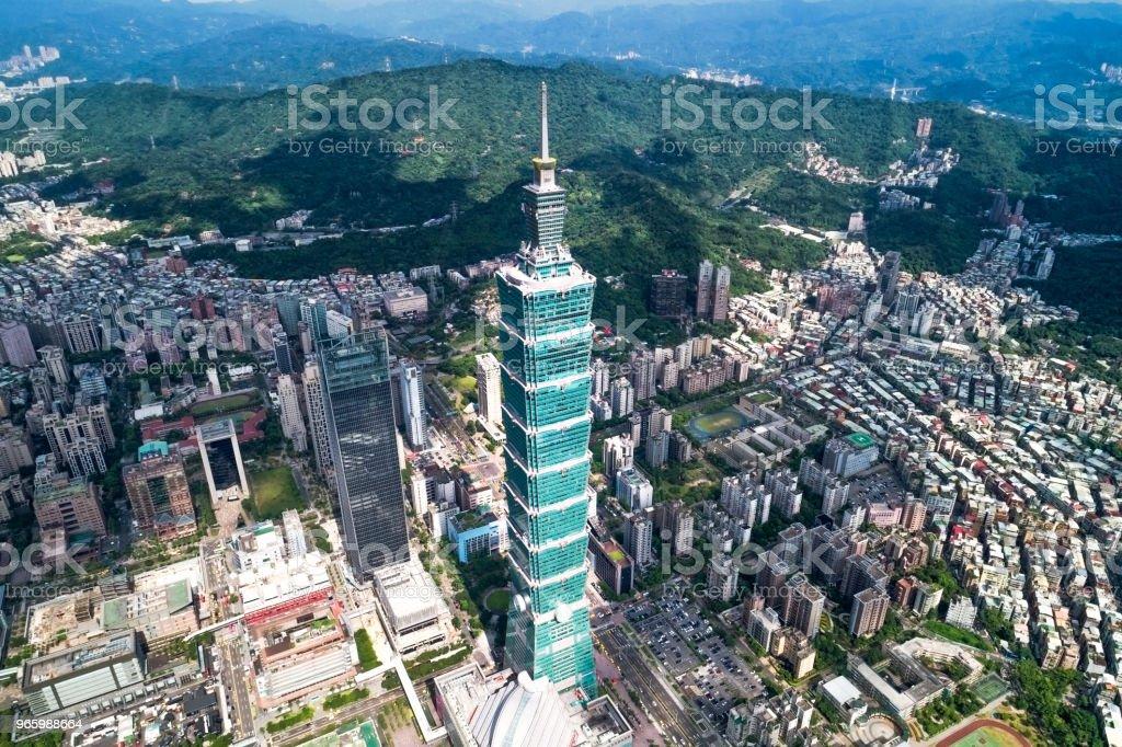 Draufsicht des Taipei 101 in Finacial Distict in Taipei, Taiwan - Lizenzfrei Architektur Stock-Foto