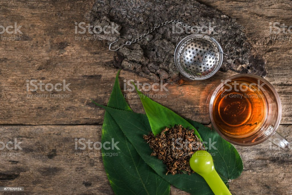 Top view of tea equipment royalty-free stock photo