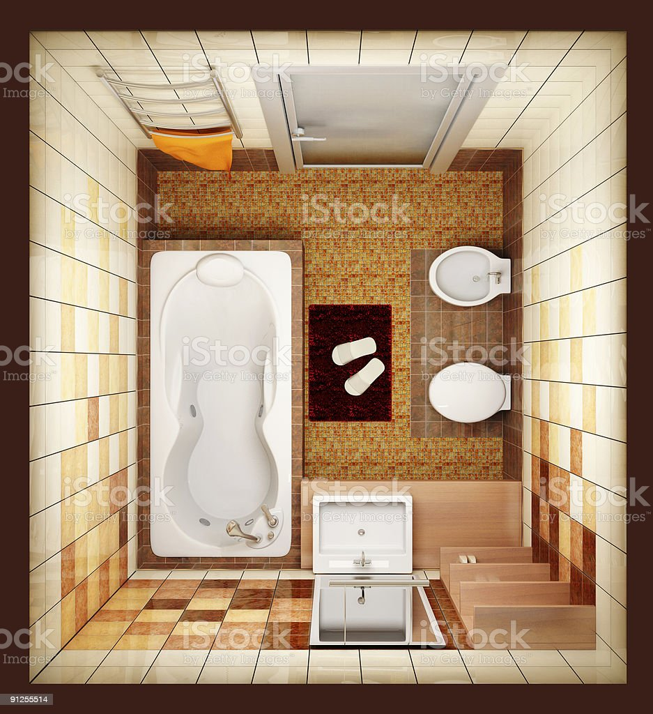 top view of the bathroom stock photo