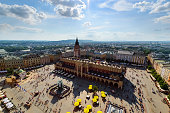 Top view of the Krakow in a sunny day.