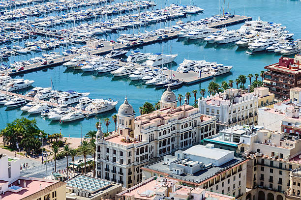 Top View of the Marina of Alicante – Foto